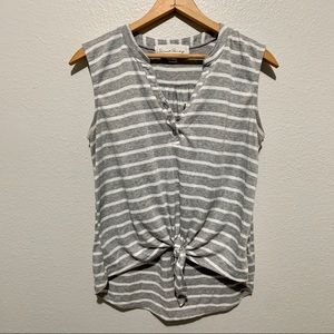 French Laundry Front Tie Blouse